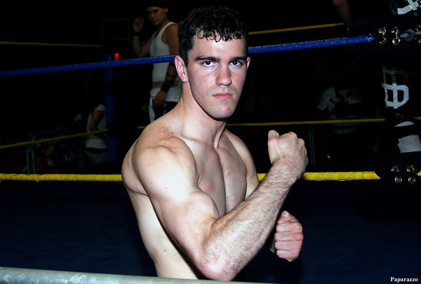 "Nick ""Bloodstone"" Amaral poses for the camera at the Alliance Championship Wrestling (ACW) show in Fairhaven, Massachusetts on June 5, 2009."
