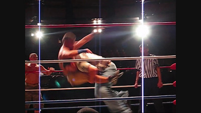 Matt Steele and Scott Sterling (The S&S Express) in tag team action against Trucker Jones and Big Country (Part Three)