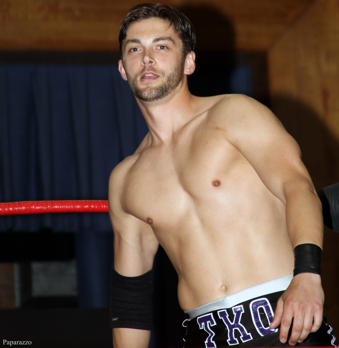 "TK O'Ryan at the start of his match against ""The Prodigy"" Mike Bennett at Northeast Wrestling's ""The Big Bethany Bash"" held on May 23, 2015 in Bethany, Connecticut."